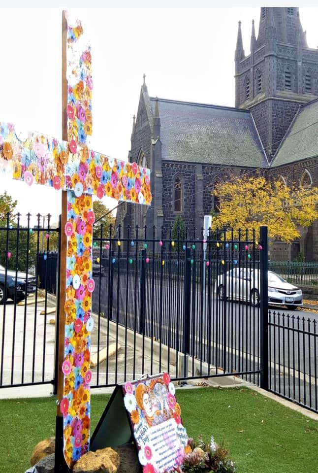 Mothers' Day Student Artwork display at the Parish