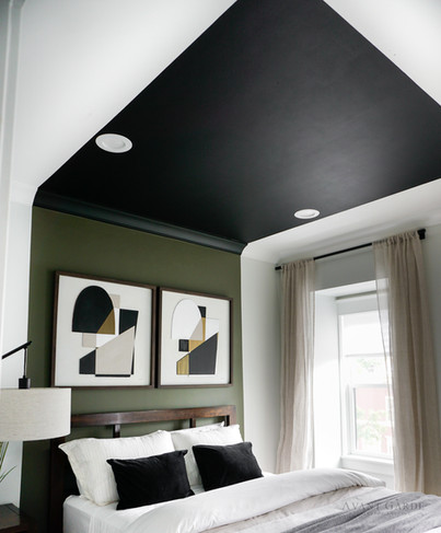 Guest Bedroom Painted Canopy