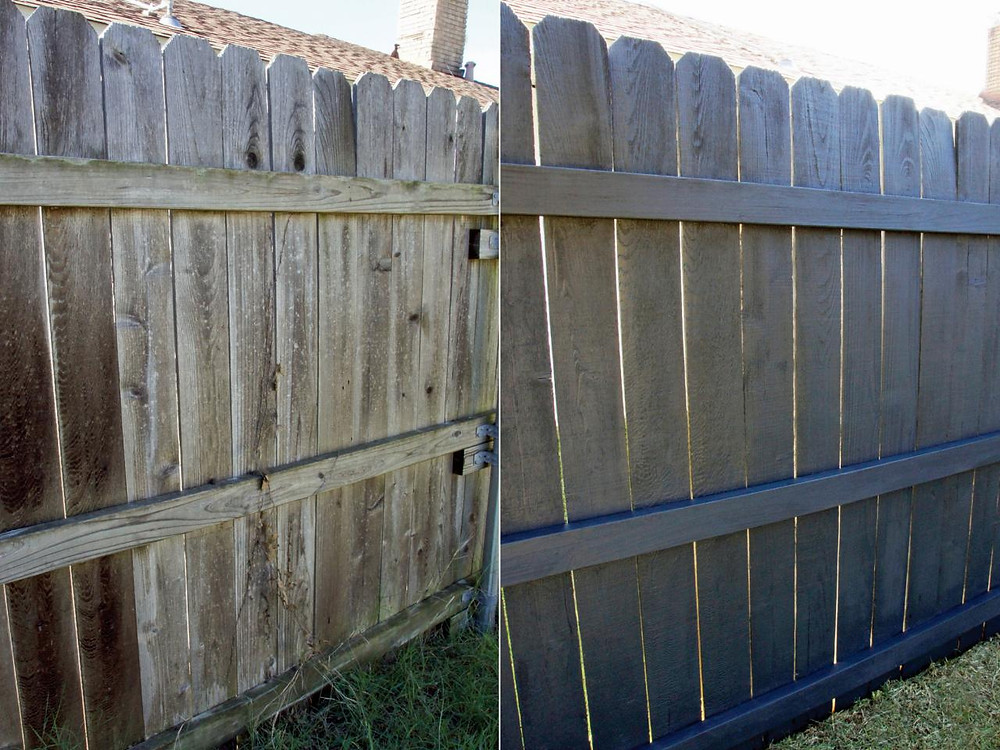improve fence, fence staining, spring renovation