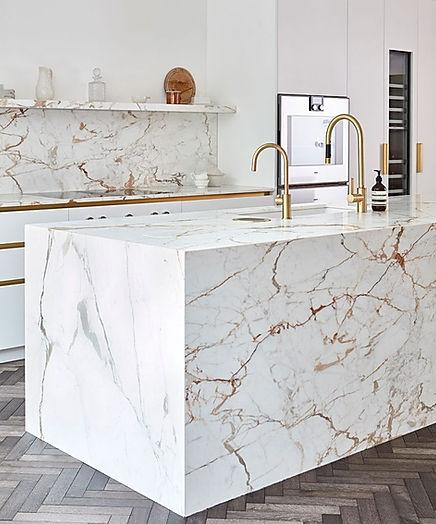 Bespoke kitchen featuring Paonazzo marble, around £115,000, Blakes London, blakeslondon.com