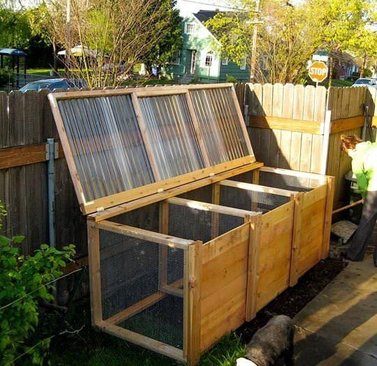 How to make your own compost container, composting, how to compost