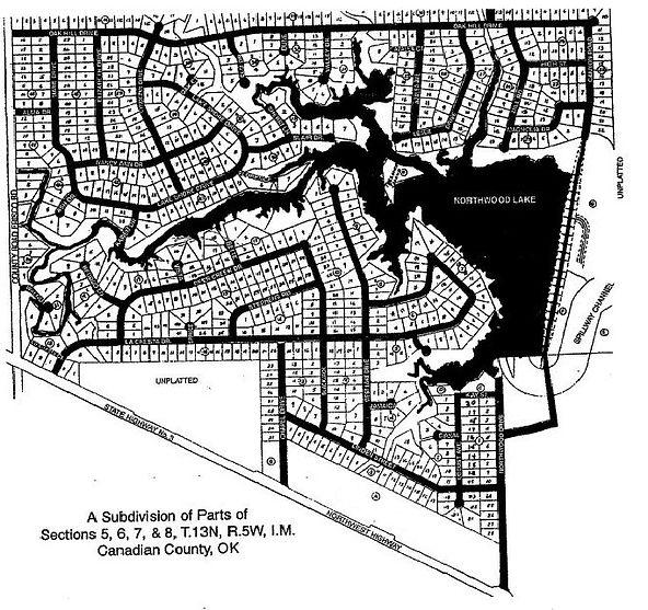 Northwood Lake Estates Plot Map