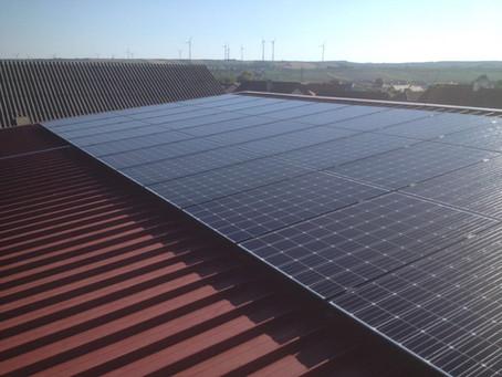 Photovoltaik-Anlage in Betrieb