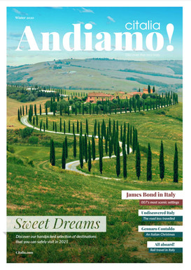 Andiamo! Winter 2020 issue: Sweet Dreams