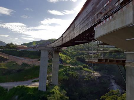 Vigas metálicas aceleram obras da Ponte Severo I