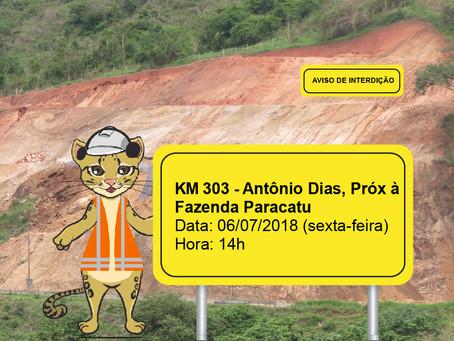 ATENÇÃO! INTERRUPÇÃO DE TRÂNSITO NESTA SEXTA-FEIRA (06/07)