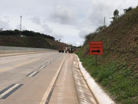 Motoristas devem observar nova configuração de acessos a bairros na BR-381/MG