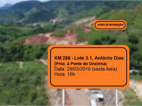 ATENÇÃO! INTERRUPÇÃO PROGRAMADA PARA 29/03
