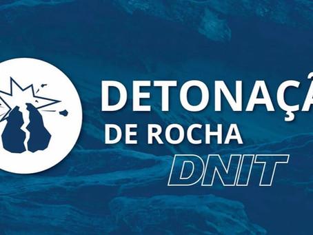 DNIT alerta para detonação de rochas na BR-381/MG, nesta sexta-feira (17) e neste sábado (18)