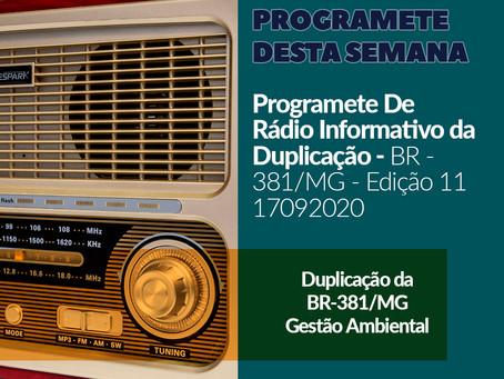 DNIT expande Comunicação Social na BR-381/MG com programetes para rádio