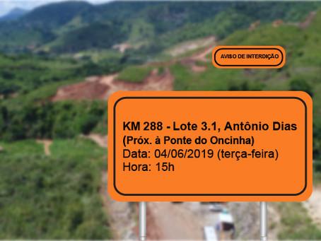 ATENÇÃO! INTERRUPÇÃO PROGRAMADA PARA O DIA 04/06