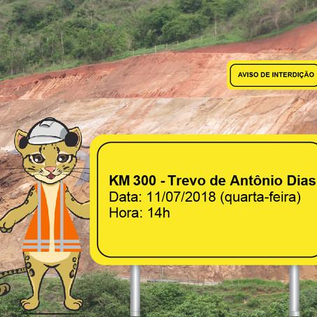 ATENÇÃO! INTERRUPÇÃO DE TRÂNSITO NESTA QUARTA-FEIRA (11/07)