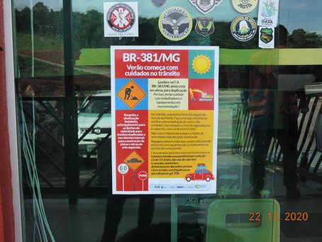 DNIT amplia relação com usuários e moradores lindeiros da BR-381/MG através de campanhas
