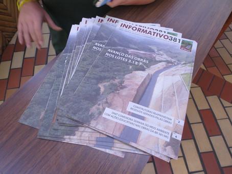 8ª edição do Boletim Informativo da BR381 destaca reaproveitamento de resíduos nas obras