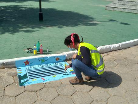 DNIT leva arte para sensibilização contra lixo em sistemas de drenagem em MG