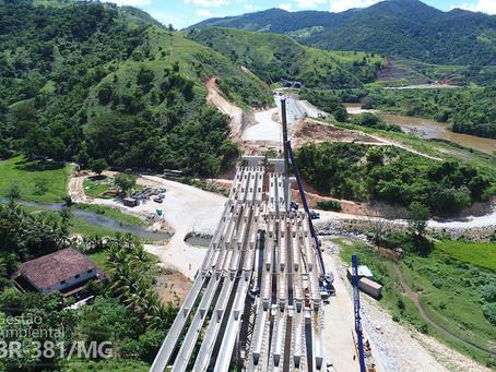 Pontes sobre o Ribeirão Oncinha começam a tomar forma