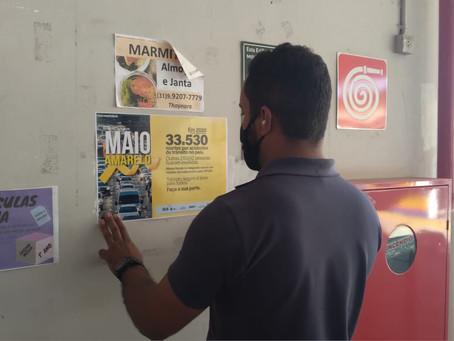 DNIT faz campanha para Maio Amarelo na BR-381/MG