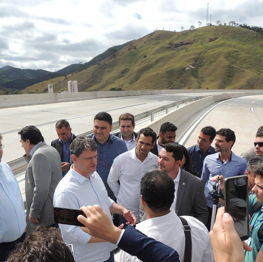 Visita do Ministro às obras da BR-381/MG