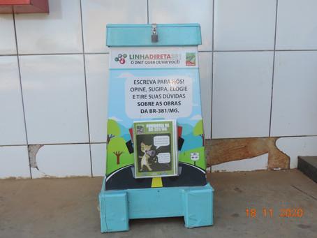 DNIT instala duas novas urnas para Linha Direta de usuários na BR-381/MG