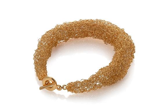 rope bracelet - gold