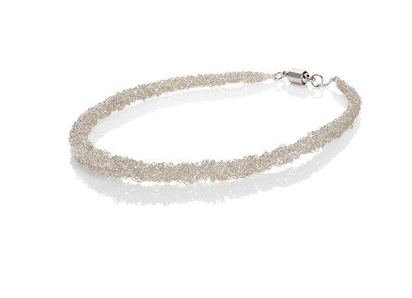 rope neckpiece - silver