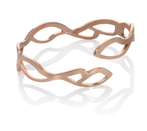 rose gold embroidery bangle - split