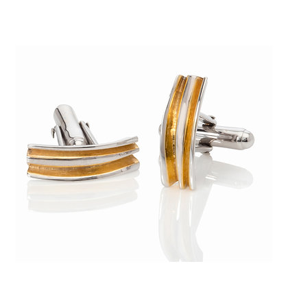 fold cufflinks with 18ct gold vermeil