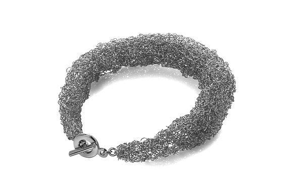 rope bracelet - silver (oxidised)