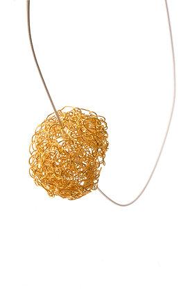 ball pendant - gold vermeil