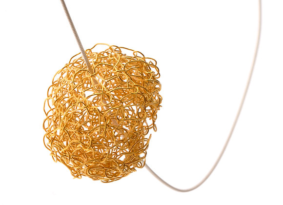 ball pendant - gold vermeil