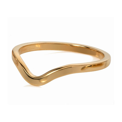 deco stacking ring - gold vermeil