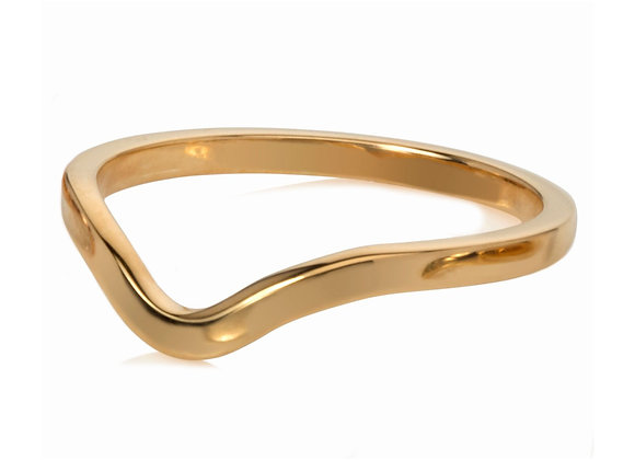 deco stacking ring - gold