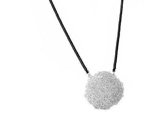 large ball pendant - silver