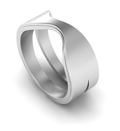 Tween stacking ring in silver