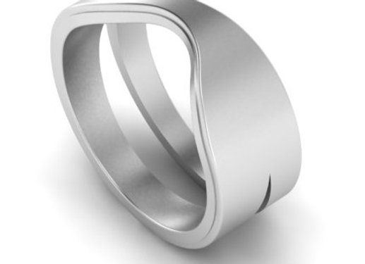 Tween stacking ring in silver
