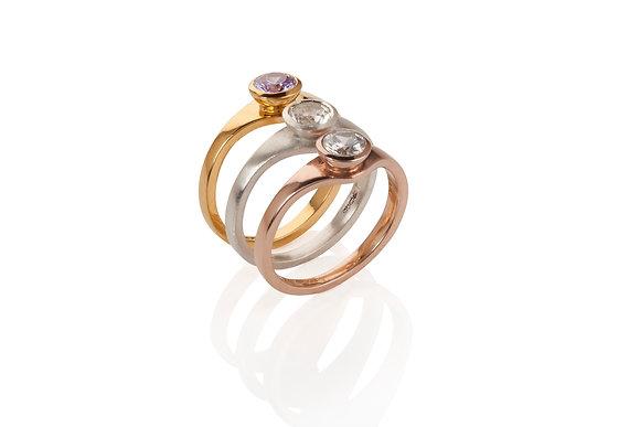 tutti frutti ring in gold vermeil