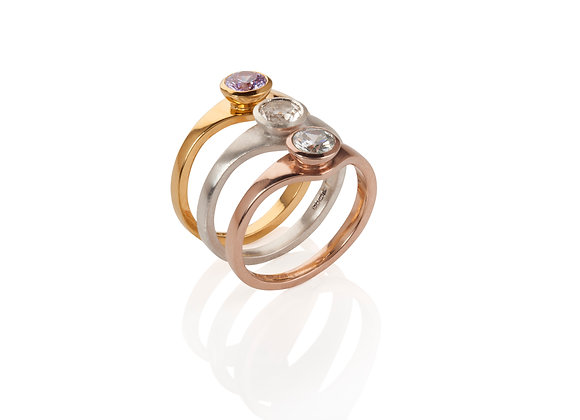 tutti frutti ring in gold vermeil