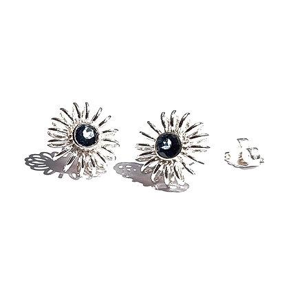 winter earrings with topaz