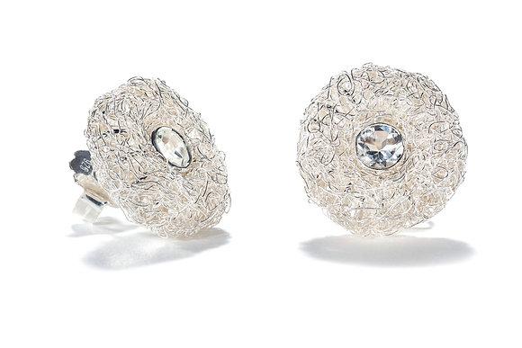 winter handknit earrings