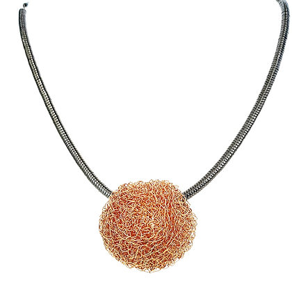 large ball pendant - gold vermeil