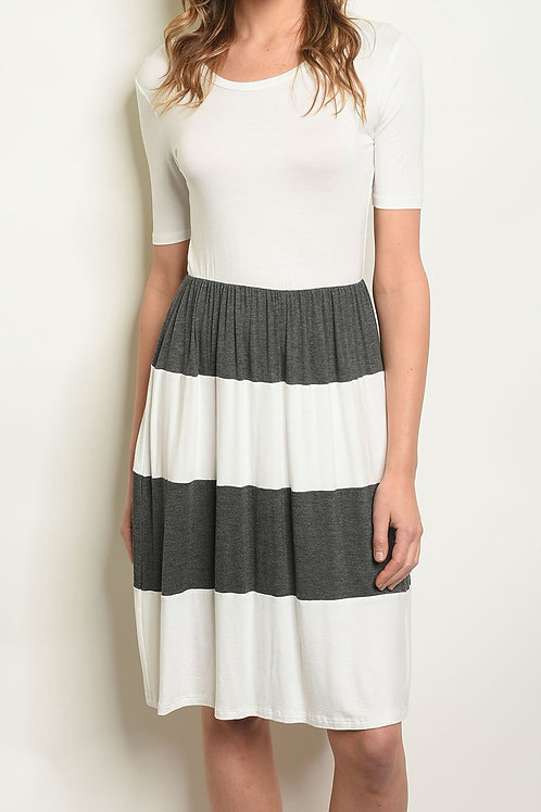Cole Grey Striped Dress