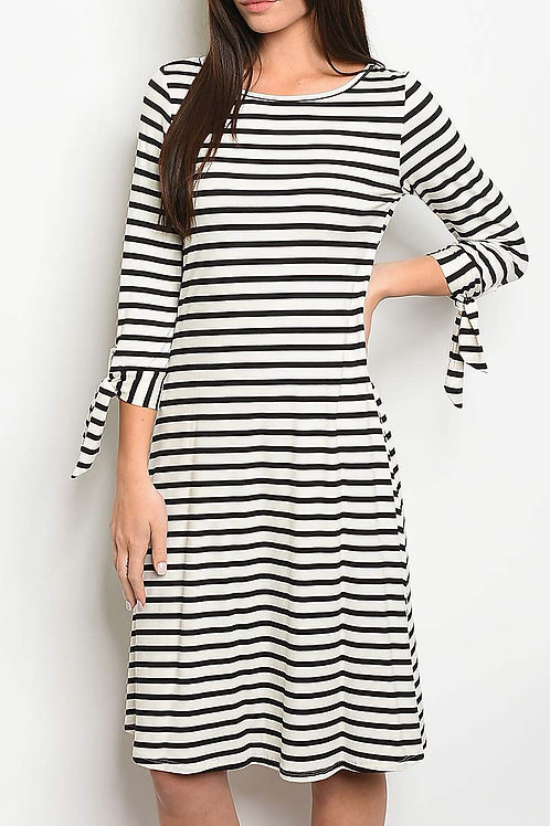 Gracie Black Striped Dress