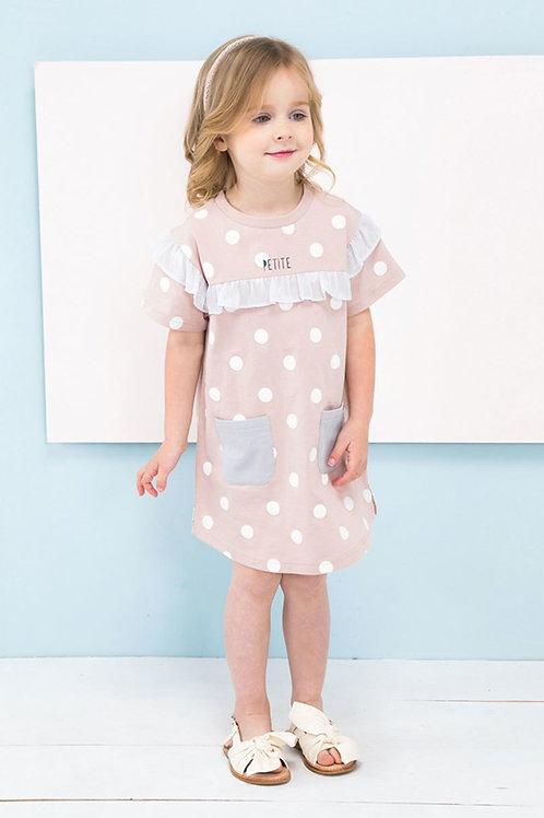 Emma Ruffle Polka-Dot Girls Dress
