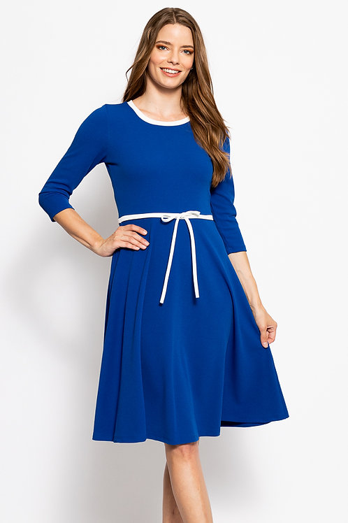 Autumn Royal Blue Dress
