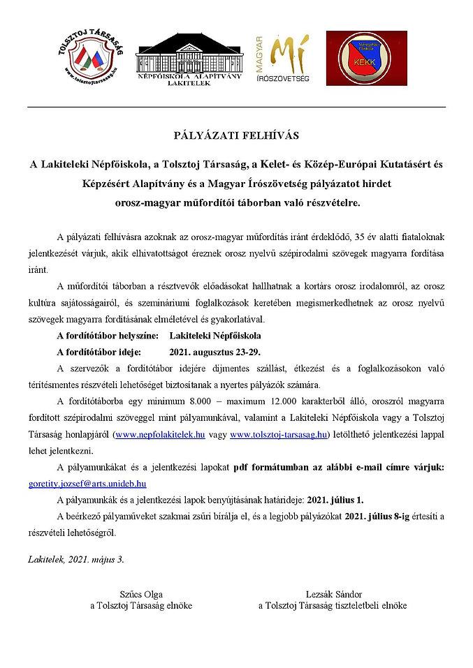 Orosz-magyar tábor - Felhívás 2021-page-