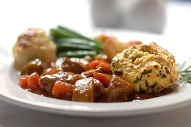 Lamb stew with minted dumpling