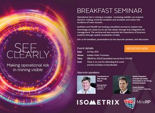 Breakfast Seminar: See Clearly – Making operational risk in mining visible