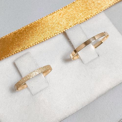 Par de Aliança de Ouro 18k (1.5mm) - Diamantada