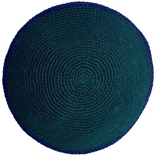 Hunter Green with Blue Rim