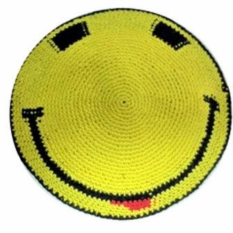 Knit Smiley Kippah